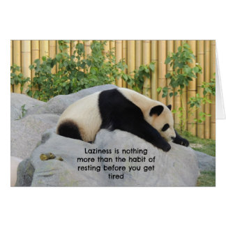 Cute Lazy Day Panda Card