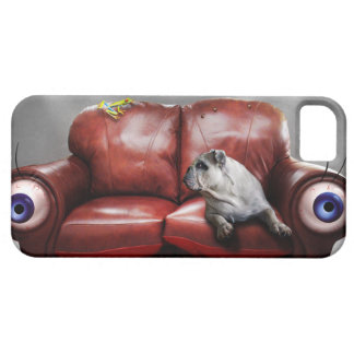 Cute Lazy dog on sofa iPhone 5 Case