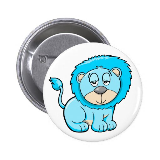 Cute Lazy Lion Button