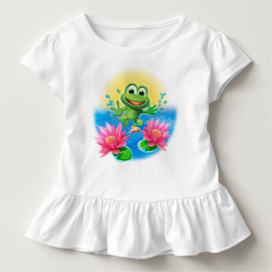 Cute Leapfrog Ruffle T shirt birthday personalised