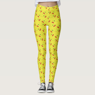 Cute Legging Yoga Workout Pant FOOD CHERRY