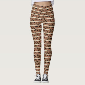 Cute Legging Yoga Workout Pant FOOD COFFEE