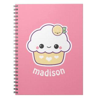 Cute Lemon Cupcake Notebook