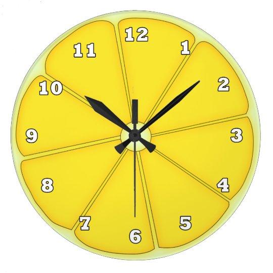 Cute Lemon fruit kitchen wall clock