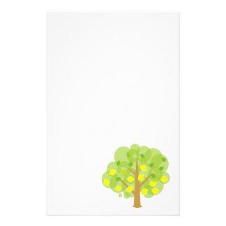 Cute Lemon Tree Stationery