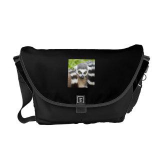 Cute Lemur Stripey Tail Messenger Bags