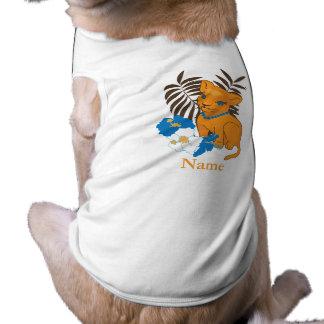 Cute Leo baby cartoon illustration Sleeveless Dog Shirt