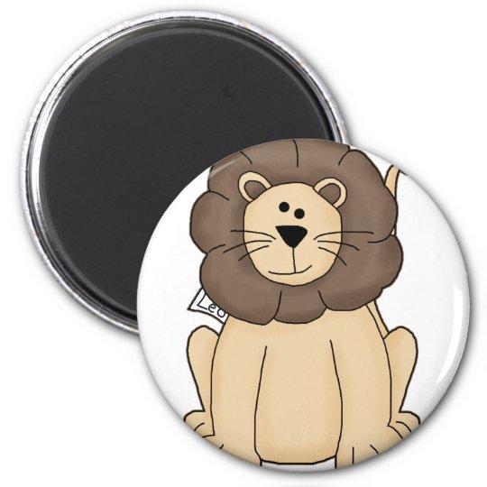 Cute Leo the Lion Big Cat 6 Cm Round Magnet