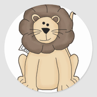 Cute Leo the Lion Big Cat Classic Round Sticker