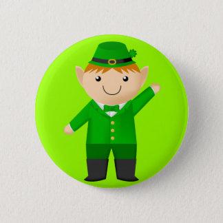 Cute Leprechaun 6 Cm Round Badge