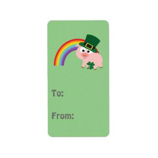 Cute Leprechaun Pig Address Label