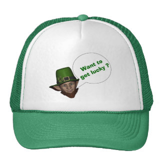 Cute leprechaun St Patrick s day Trucker Hat
