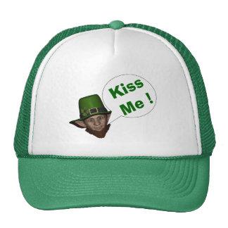 Cute leprechaun St Patrick s day Trucker Hats