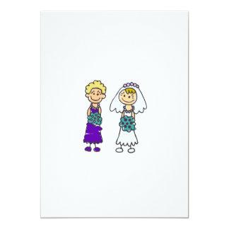 Cute Lesbian Brides 13 Cm X 18 Cm Invitation Card