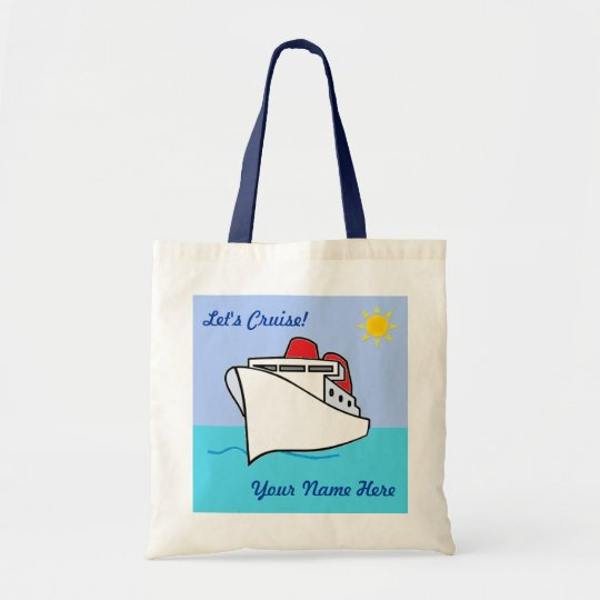 Cute Let's Cruise Personalised with Name Tote Bag