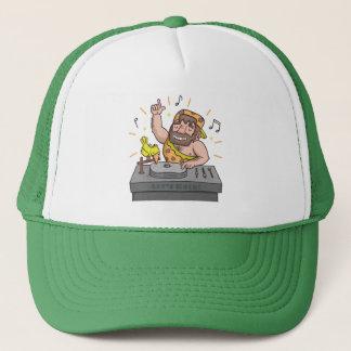 Cute Lets Rock Stone Age Caveman Deejay Hat