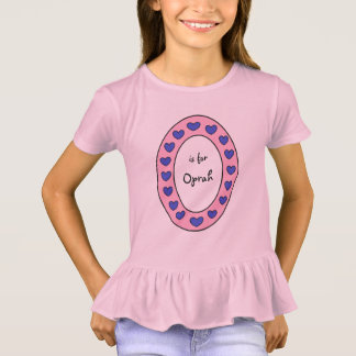 Cute Letter O Design Personalized Girls Name T-Shirt