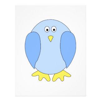 Cute Light Blue Bird Cartoon Full Color Flyer