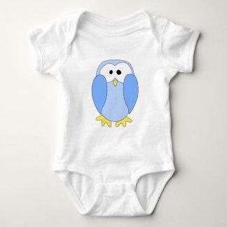 Cute Light Blue Penguin. Penguin Cartoon. Baby Bodysuit