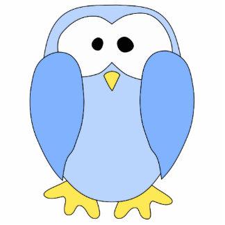 Cute Light Blue Penguin. Penguin Cartoon. Photo Sculpture Magnet