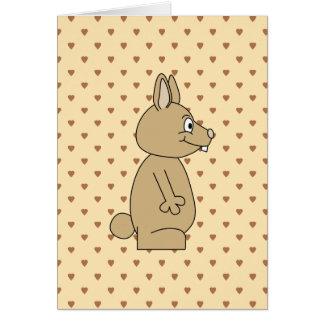 Cute Light Brown Rabbit. Greeting Cards