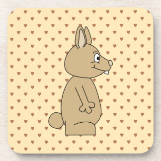 Cute Light Brown Rabbit. Coaster