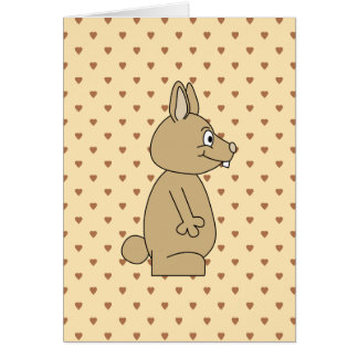 Cute Light Brown Rabbit. Greeting Card