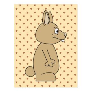 Cute Light Brown Rabbit. Postcard