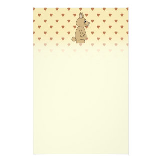 Cute Light Brown Rabbit. Stationery