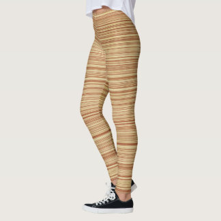 Cute Light Brown Striped Leggings