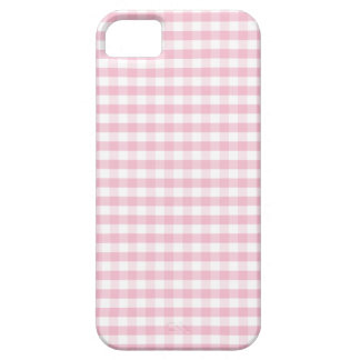 Cute Light Pink Gingham iPhone 5 Cover