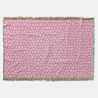Cute Light Pink Mosaic Pattern Throw Blanket