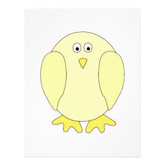 Cute Light Yellow Bird. Cartoon Chick. 21.5 Cm X 28 Cm Flyer