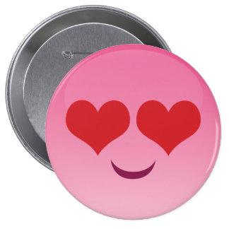 Cute lil Heart Eyes emoji 10 Cm Round Badge