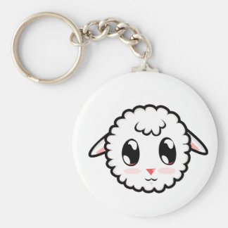 Cute Lil' Lamb Basic Round Button Key Ring