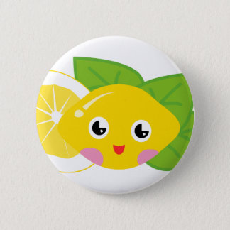 Cute Lil' Lemon 6 Cm Round Badge