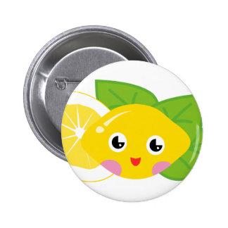 Cute Lil' Lemon 6 Cm Round Badge