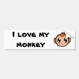 Cute Lil' Monkey Bumper Sticker