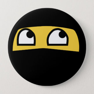 Cute Lil' Ninja Emoji 10 Cm Round Badge