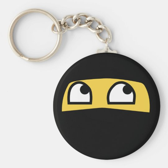 Cute lil' ninja emoji basic round button key ring