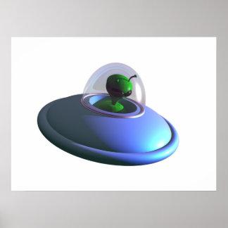Cute Lil UFO Poster