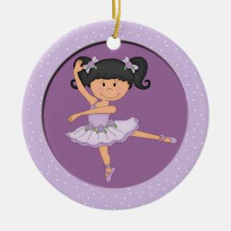 Cute Lilac Ballerina 1 Ballet Star Christmas Ornament