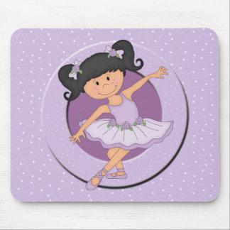 Cute lilac Ballerina 2 Ballet Star Mouse Mat