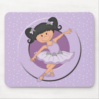 Cute lilac Ballerina 2 Ballet Star Mouse Pad