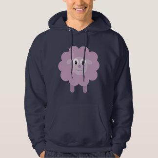 Cute Lilac Cartoon Sheep Navy Hoody