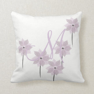 Cute Lilac Monogrammed Pillow