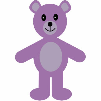 Cute lilac teddy bear hanging ornament photo sculptures