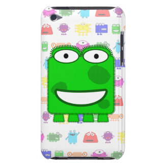 Cute Lime Green Cartoon Monster iPod Touch Cover
