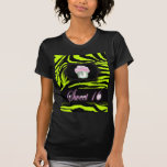 cute Lime Green Cupcake Sweet 16 Tee Shirt