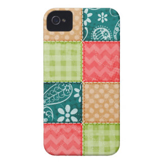 Cute Lime Green, Turquoise, and Scarlet Red iPhone 4 Cover